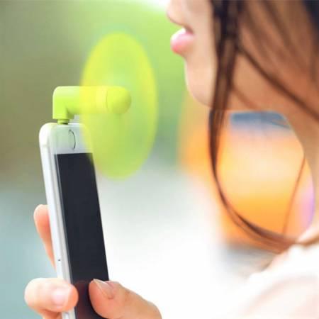 Mini Ventilator fürs Smartphone, Handy Ventilator, Werbeartikel Smarphone, Gadget, Mini Fan