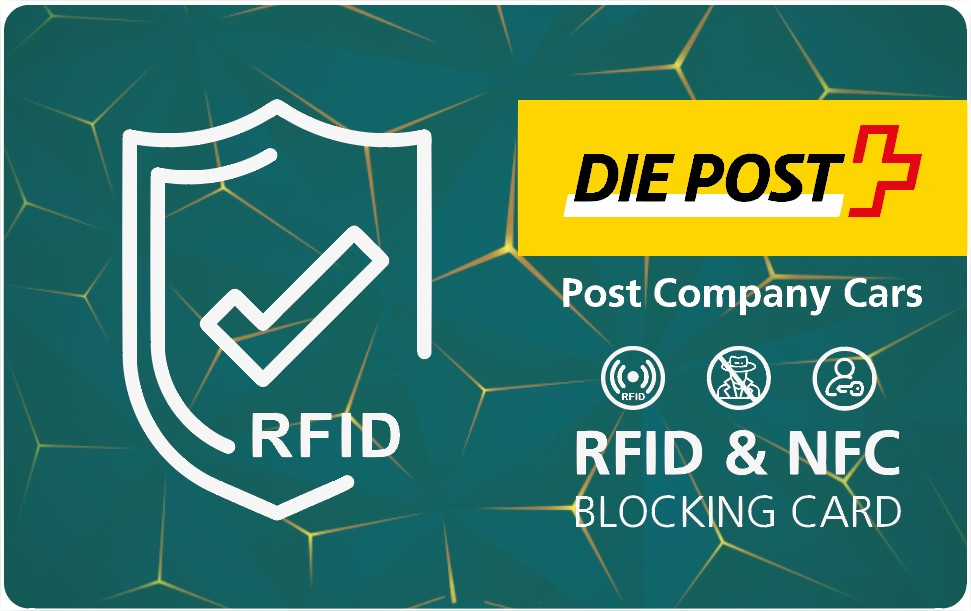 RFID Anti Skimming Card als Werbemittel Post Beispiel von Twing