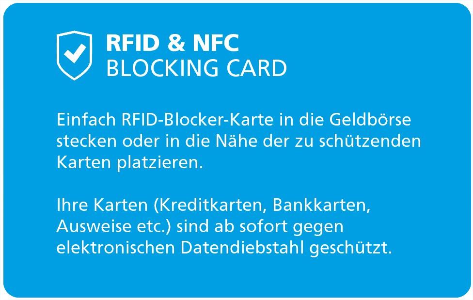 RFID Blocker Karte als Werbemittel AKB Beispiel von Twing 1