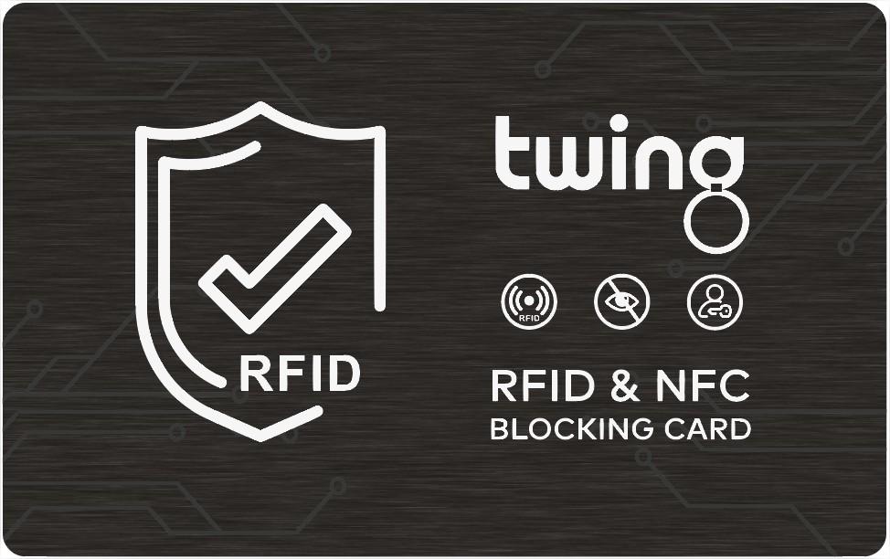RFID Blocking Karte von Twing als Werbeartikel mit Logo bedrucken lassen