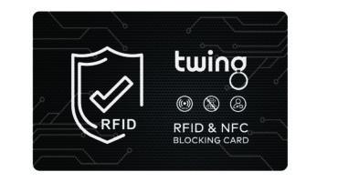 Twing RFID Schutzkarte NFC grid design schwarz