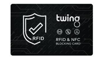 RFID Blocker Karte von Twing in Schwarz Metallic