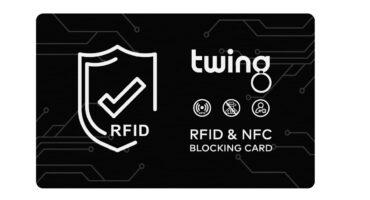 RFID Blocker Karte von Twing in Schwarz